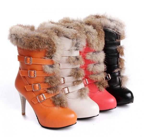 Женские ботинки зима фото с мехом